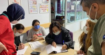 Ağız ve Diş Sağlığı Merkezi'nde aşılama yapıldı