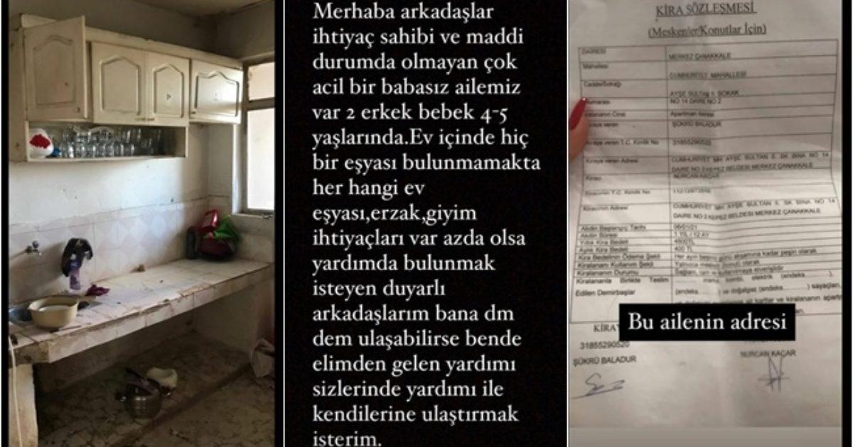 Anne ve oğulları için Çanakkaleliler kolları sıvadı (videolu haber)