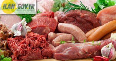 Kırmızı et ve et ürünleri satın alınacaktır