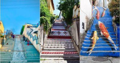 Merdivenler renklendirilmeyi bekliyor