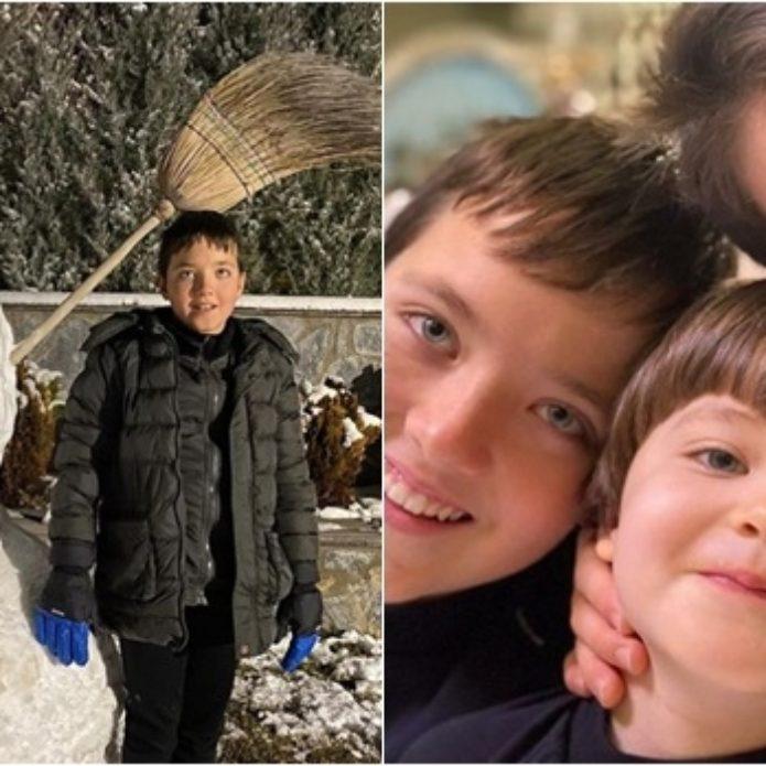 Turan ve oğullarının kar keyfi