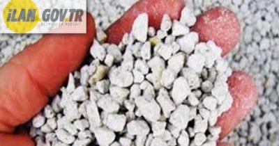 10.000 ton 25-35 mm çaplı kırma taş satın alınacaktır