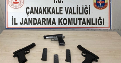 3 adet ruhsatsız tabanca ele geçirildi