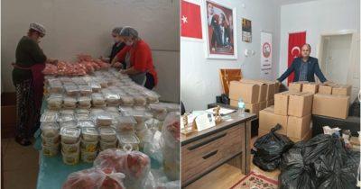 İzmir'deki Çanakkalelilerden erzak yardımı