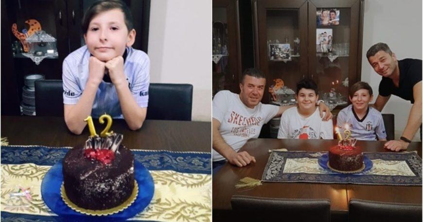 Oğlunun doğum gününü kutladı