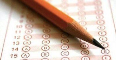 Öğrenciler sınavda ter döktü