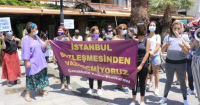 """""""İstanbul Sözleşmesi'nden değil, önümüzden çekilin!"""""""