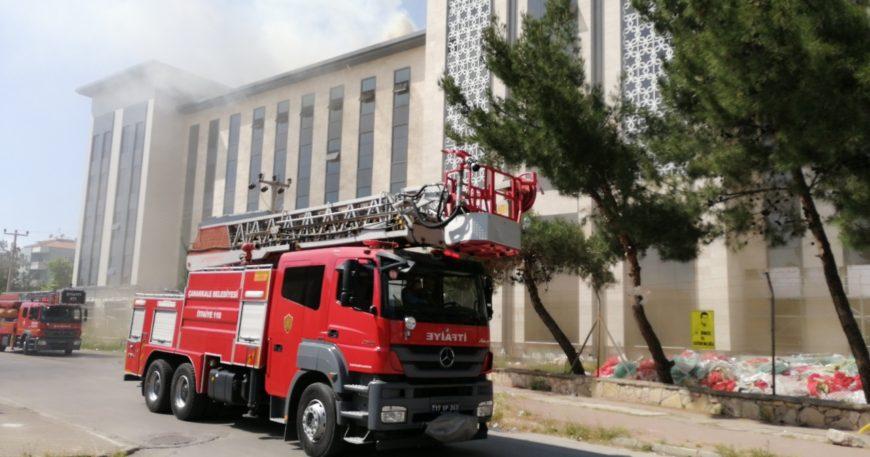 Hizmete girmeden yangın çıktı (Videolu haber)