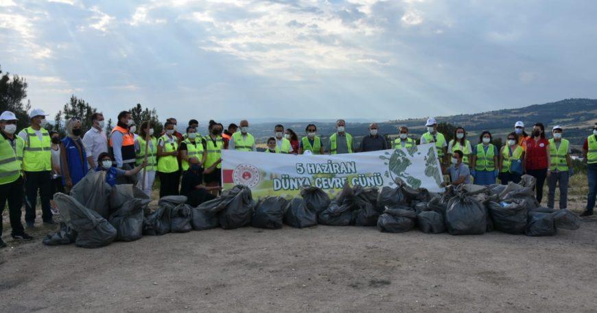 Atikhisar Barajının etrafı temizlendi
