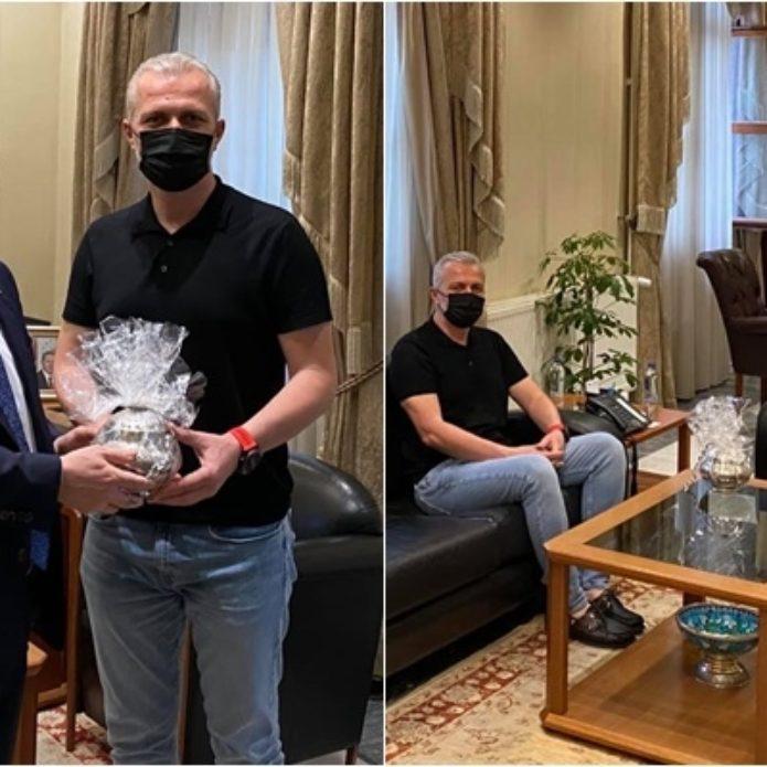Muğla'da Vali Orhan Tavlı'yı ziyaret etti