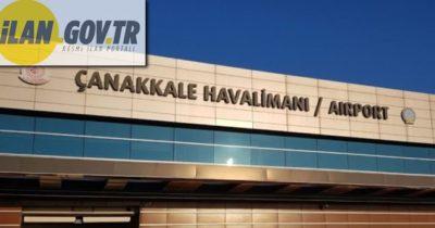 Çanakkale Havalimanına ait kafeterya kiraya verilecektir