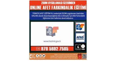 AFAD'dan afet farkındalık eğitimi (videolu haber)