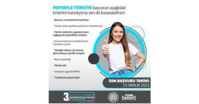 """Üniversiteliler için """"Patentle Türkiye Yarışması"""""""