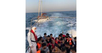 Yardım talep eden göçmenler kurtarıldı