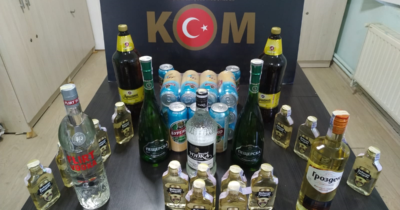 Gümrük kaçağı alkoller ele geçirildi