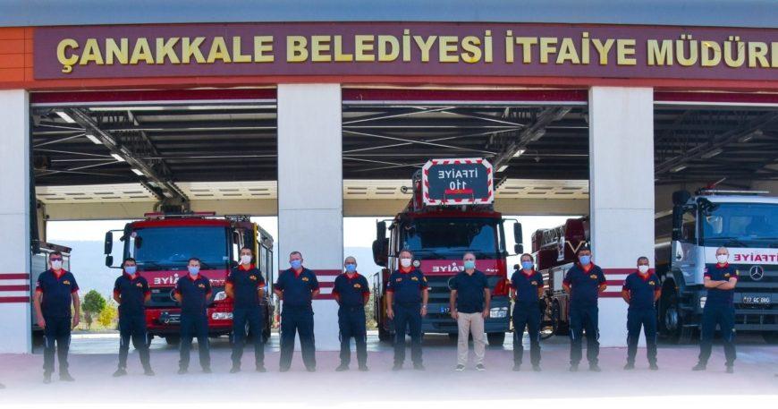 Başkan Gökhan'dan İtfaiyecilere teşekkür mesajı