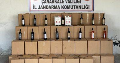 Bozcaada'da şarap üretim tesisine operasyon düzenlendi