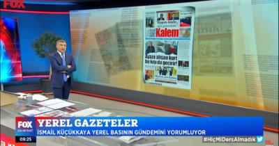 Kalem Gazetesi yine Fox Tv'de! (vidolu haber)