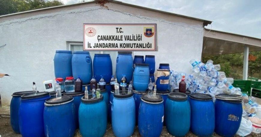 3 bin 230 litre kaçak şarap ele geçirildi
