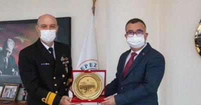 Başkan Arslan Tuğamiral Ecevit'i ağırladı