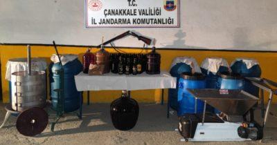 Jandarmadan bağ evine 'kaçak alkol' operasyonu