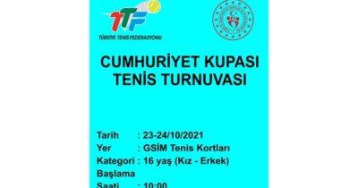 Cumhuriyet Kupası Tenis Turnuvası düzenlenecek